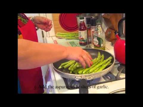 Mizkan® Challenge # 4 – My Favorite Light Recipe – Pan Roasted Asparagus!