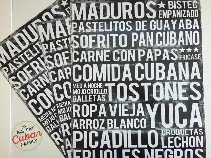 Let's Celebrate! Cuban Food Poster Giveaway