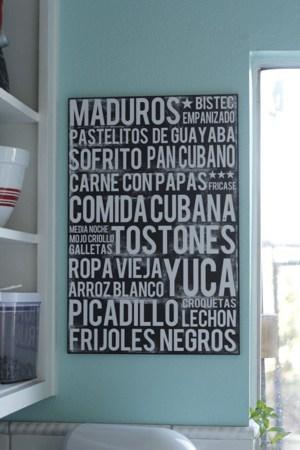 Cuban Food Poster – A Giveaway