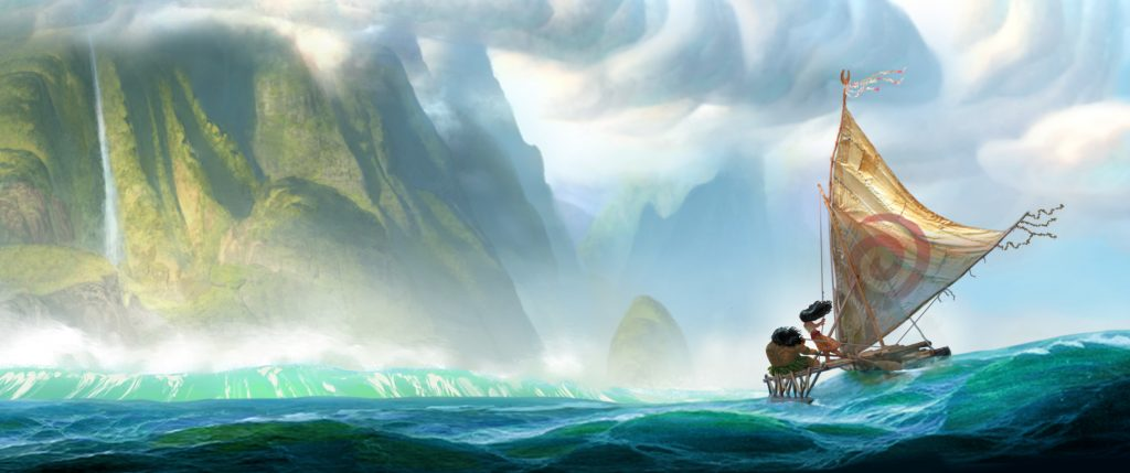"From Walt Disney Animation Studios comes ?Moana,? a sweeping, CG-animated comedy-adventure about a spirited teenager on an impossible mission to fulfill her ancestors' quest. A born navigator, Moana sets sail from the ancient South Pacific islands of Oceania in search of a fabled island. During her incredible journey, she teams up with her hero, the legendary demi-god Maui, to traverse the open ocean on an action-packed voyage, encountering enormous sea creatures, breathtaking underworlds and ancient folklore. Directed by the renowned filmmaking team of Ron Clements and John Musker (""The Little Mermaid,"" ""The Princess and the Frog,"" ""Aladdin""), ""Moana"" arrives in theaters in late 2016. ?2014 Disney. All Rights Reserved."