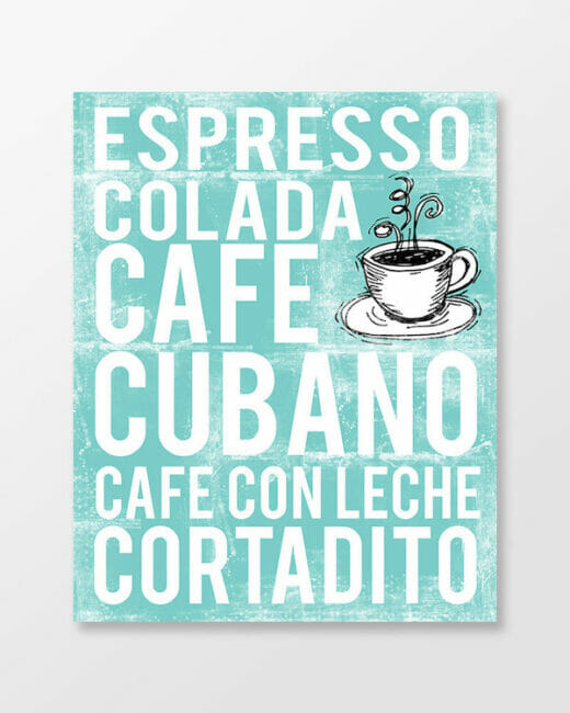 Cuban Espresso - Cafe Cubano poster in subway art style