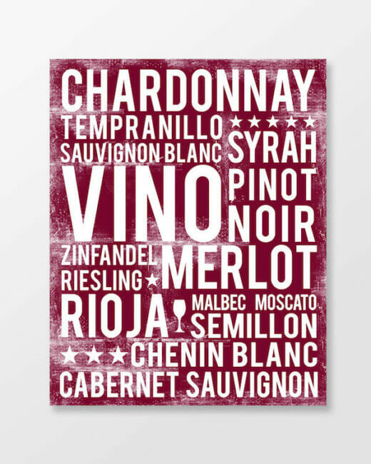 Wines poster in subway art style