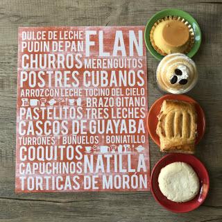 """Cuba poster - Cuban desserts subway art print"